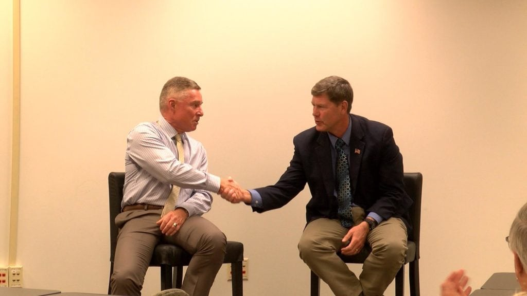 Kind and Toft discuss role of government at forum